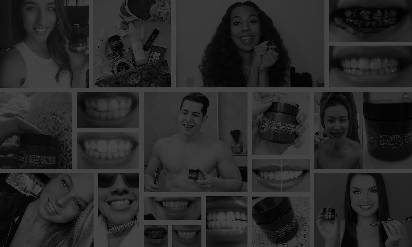 image of people using Active Wow Teeth Whitening on Social Media (instagram, youtube)