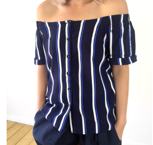 Hayze Blue and White Top