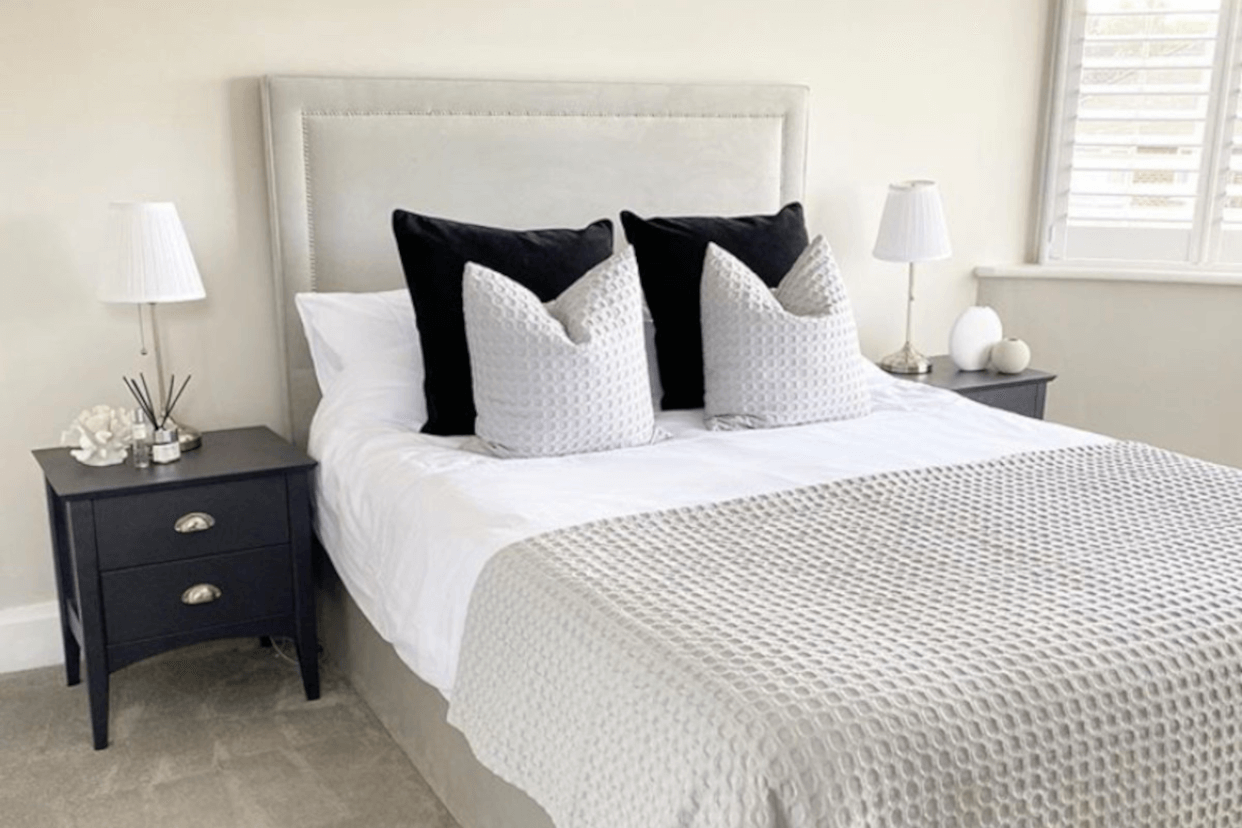 White bedding care