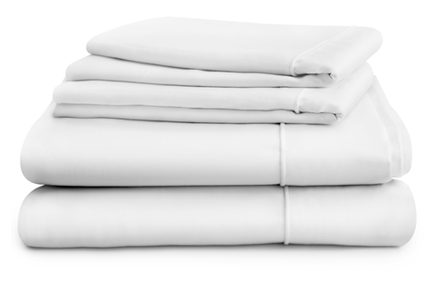 Hampton and Astley long-staple Egyptian cotton sateen bedding in pure white