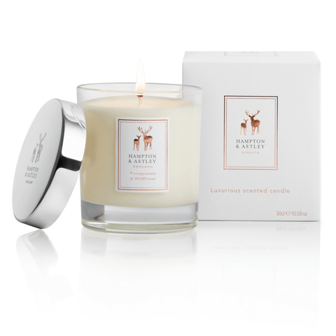 Hampton and Astley Pomegranate and Wildflower Scented Candle