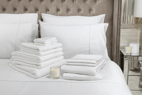 Hampton and Astley Blissful Indulgence bundle in pure white