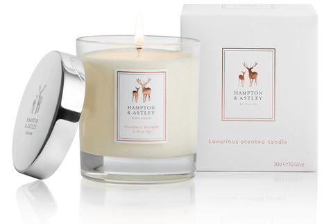 Hampton and Astley Woodland Blossom and Wild Fig scented candle