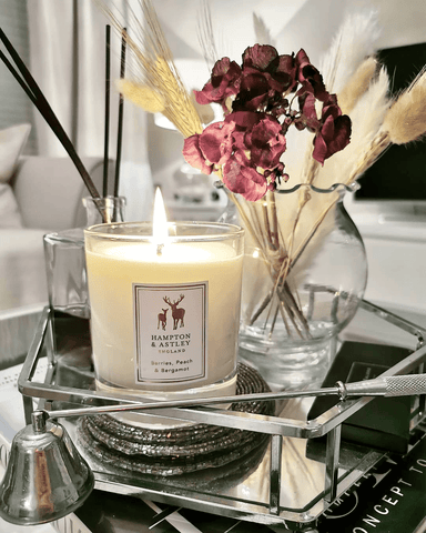 Beautiful photo by @anna_louisa_at_home featuring Hampton and Astley scented candle in Berries, Peach and Bergamot