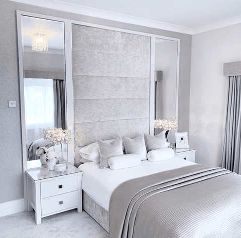 Simple, elegant grey bedroom by @bighomelittlehome on Instagram