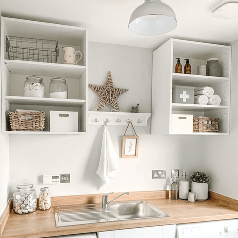 Storage isn't an issue, thanks to this handy utility room that's perfect for a quick shelfie