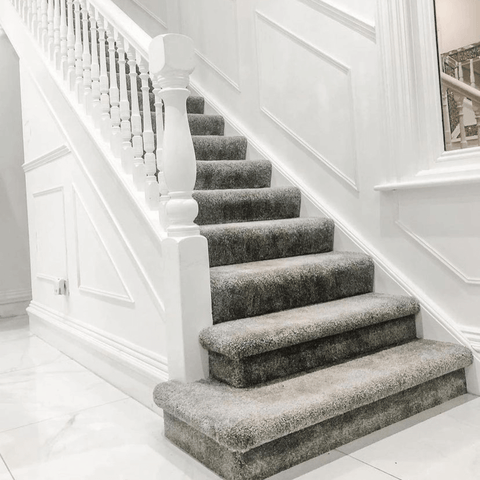 Paneling the hallway and staircase has added character while bringing the décor bang up to date