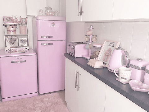 My kitchen is a full on Barbie dream house