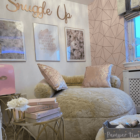 Every home needs a cosy corner to snuggle up in and pamper yourself