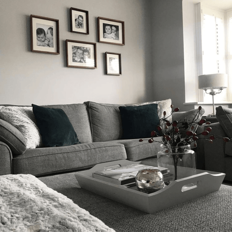 Proving that grey interiors can be cosy as well as cool, the super comfy living room is the heart of the home