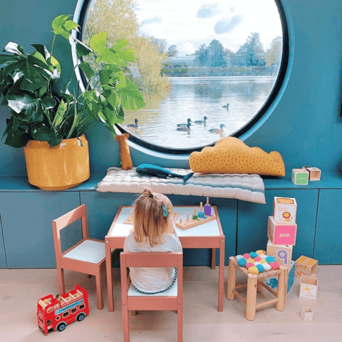 When you've had enough of puzzles and colouring, you can gaze out of the window and watch the ducks go by instead