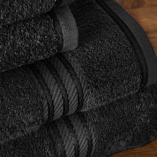 Our black bath sheets make your bathroom feel like a spa.