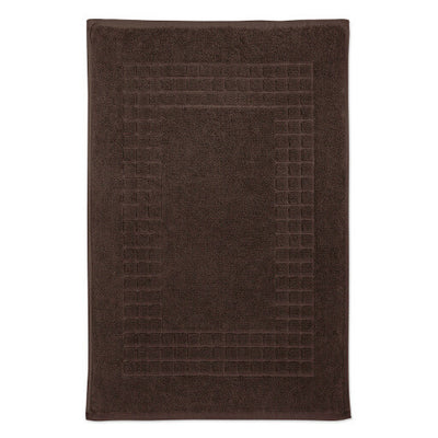 Hampton and Astley 100% Egyptian Cotton Luxury Bath Mat, Chocolate
