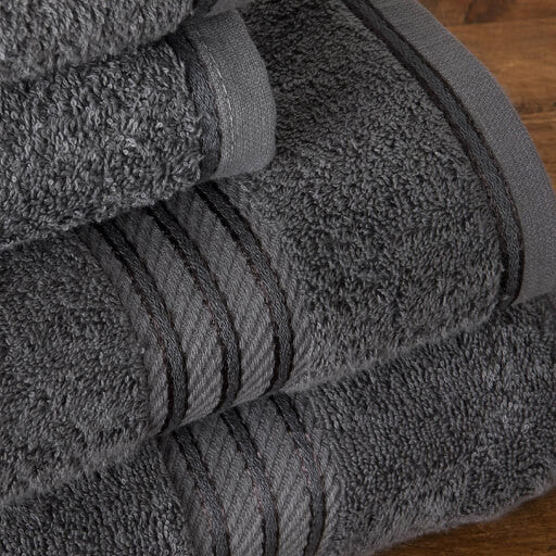 Our dark grey bath sheets make your bathroom feel like a spa.