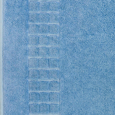 Luxury Egyptian cotton blue bath mat that is soft and absorbent