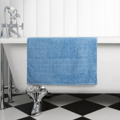 The perfect blue bath mat for any bathroom or en-suite shower