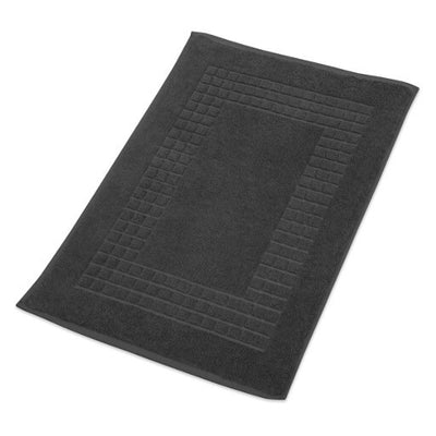 Hampton and Astley 100% Egyptian Cotton Luxury Bath Mat, Charcoal Dark Grey