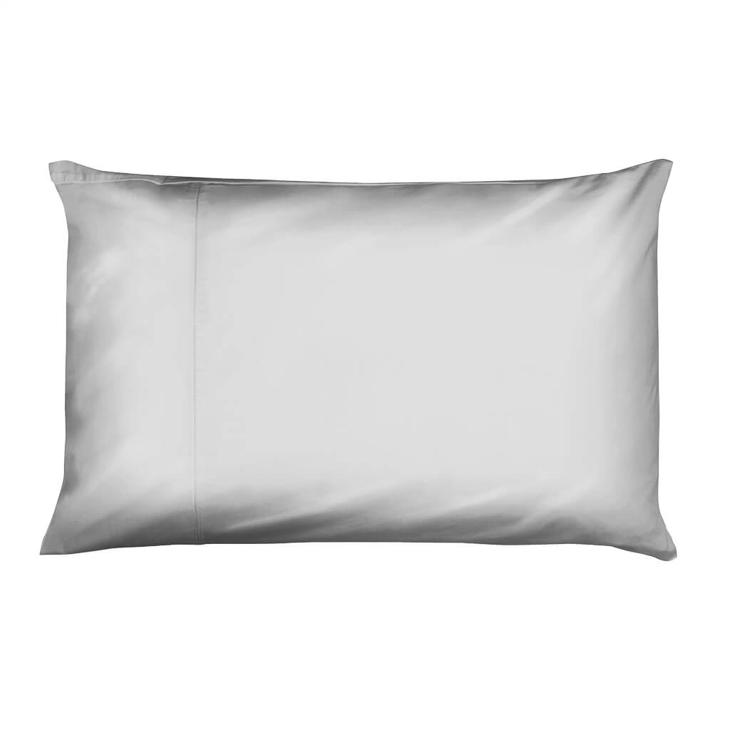 Hampton and Astley Long-Staple Egyptian Cotton Sateen Luxury Pillowcase, Subtle Grey