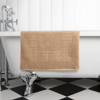 The perfect dark Caramel Latte mat for any bathroom or en-suite shower