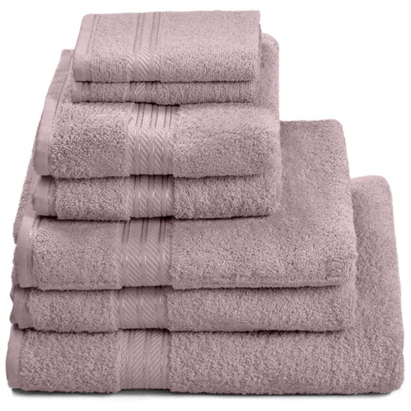 Hampton and Astley 100% Egyptian Cotton 7 Piece Luxury Bath Towel Set, Lavender