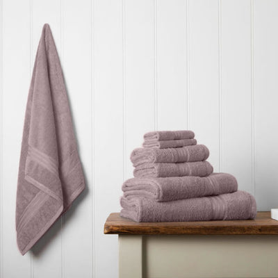 Our towel bale offers 7 Lavender towels including 1 large bath sheet, 2 bath towels, 2 hand towels, 2 face cloths