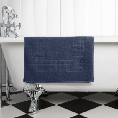 The perfect navy bath mat for any bathroom or en-suite shower