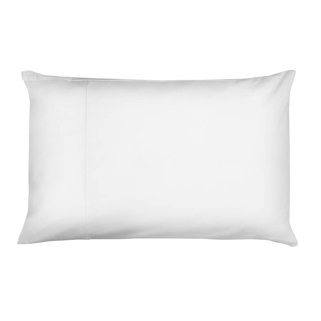 Hampton and Astley Long-Staple Egyptian Cotton Sateen Luxury Pillowcase, Pure White