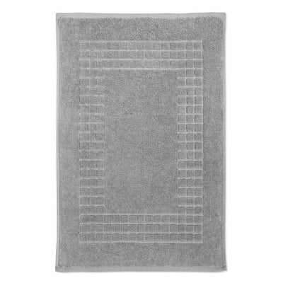 Hampton and Astley 100% Egyptian Cotton Luxury Bath Mat, Subtle Grey