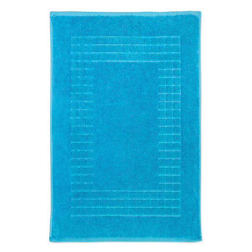 Luxury Egyptian Cotton Teal Bath Mat Hampton And Astley