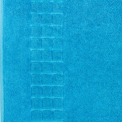 Luxury Egyptian cotton teal bath mat that is soft and absorbent