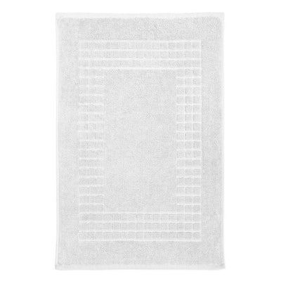 Hampton and Astley 100% Egyptian Cotton Luxury Bath Mat, Pure White