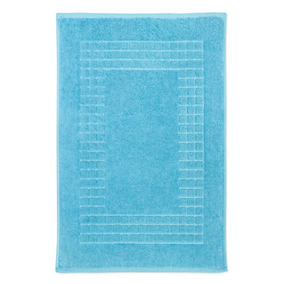 Hampton and Astley 100% Egyptian Cotton Luxury Bath Mat, Soft Aqua Turquoise