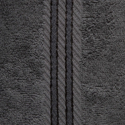 Hampton and Astley 100% Egyptian Cotton Luxury Bath Sheet, Charcoal Dark Grey
