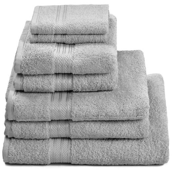 7 Piece Luxury Egyptian Cotton Bath Towel Set, Grey