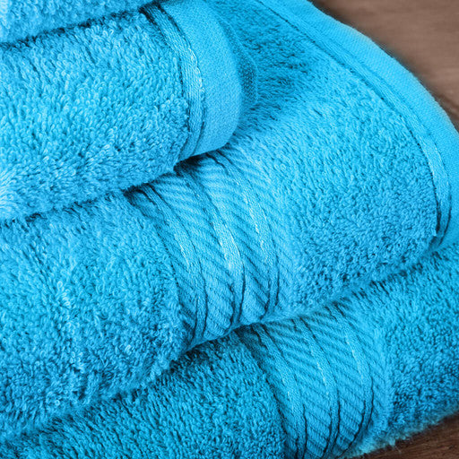 Our teal bath sheets make your bathroom feel like a spa.