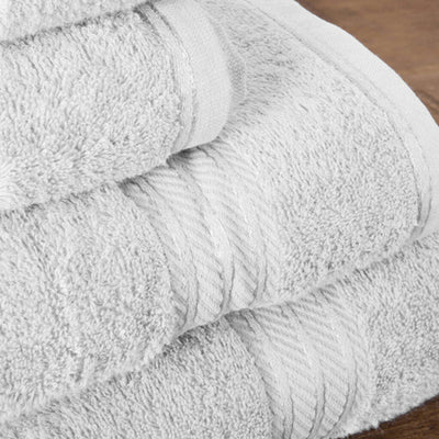 Hampton And Astley 100% Egyptian Cotton 7 Piece Luxury Bath Towel Set, Pure  White