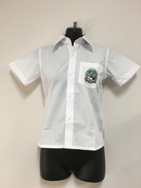 Boys - GMAS White Collared Shirt