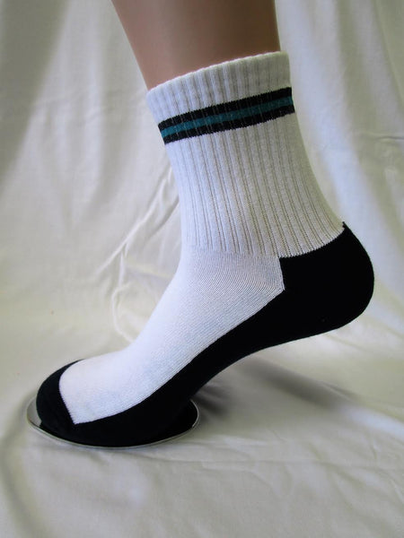 Top Stripe White Socks