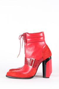 PRE-ORDER Red Buckle Booties