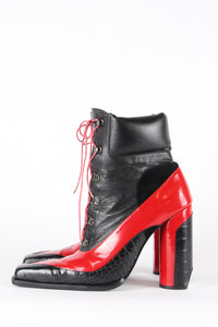 Red and Black Hiking Pumps 40% OFF