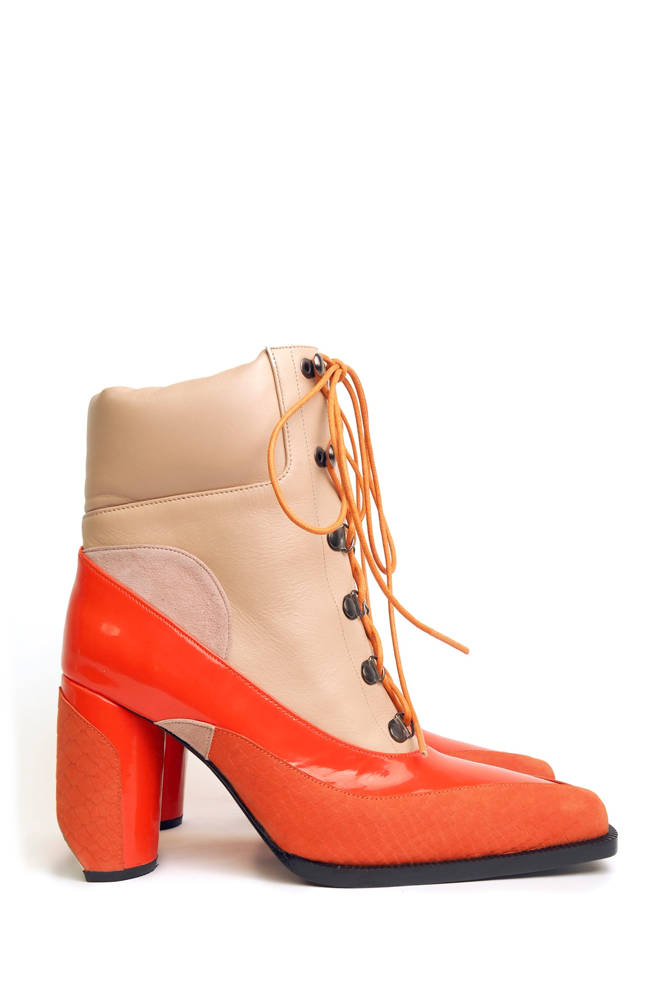 Orange and Nude Hiking Pumps 2.0