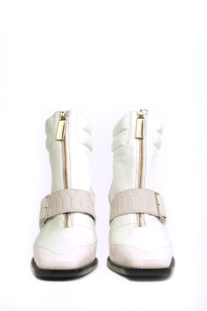 White Buckle Bootie 2.0