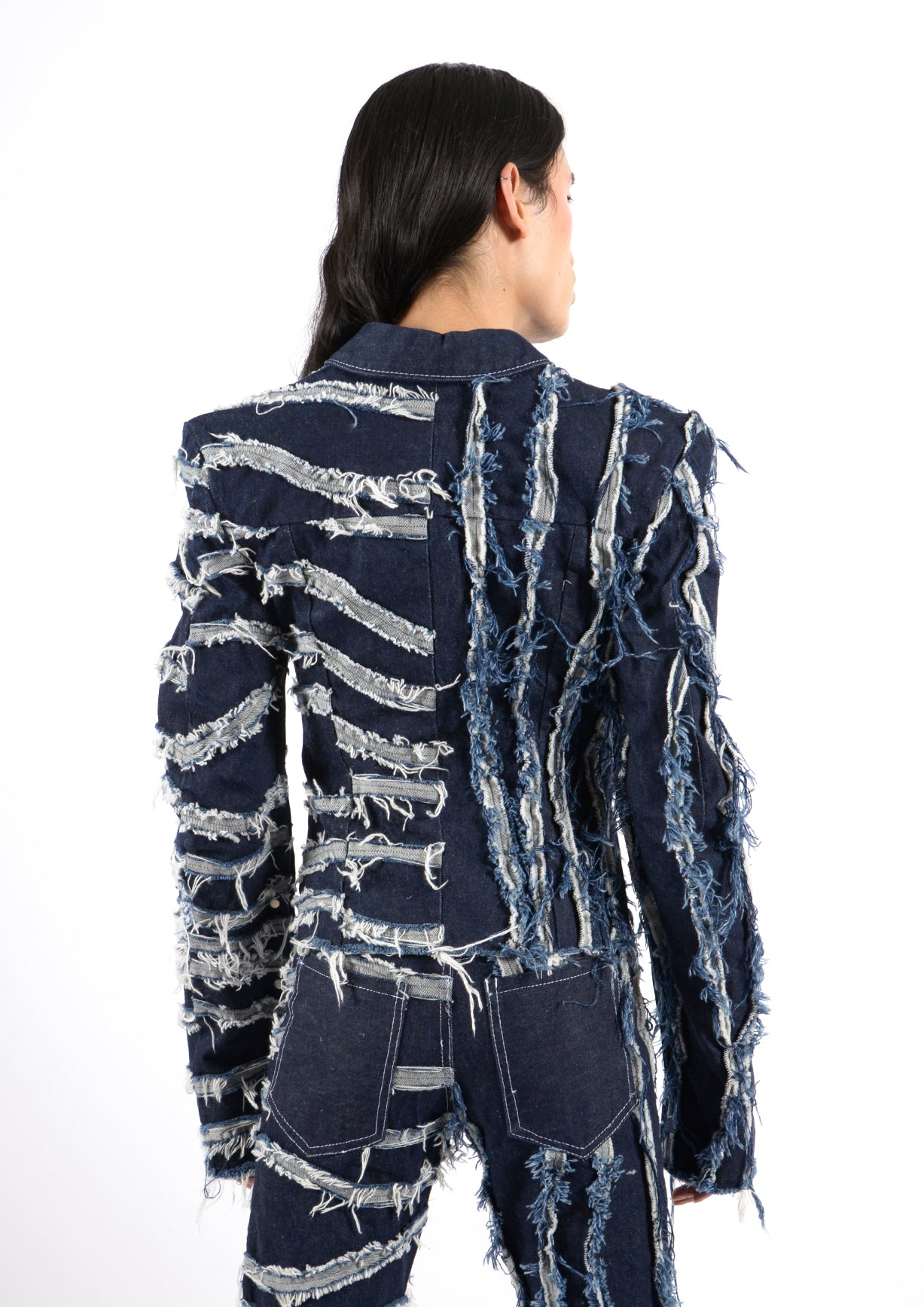 Texturized Denim Jacket