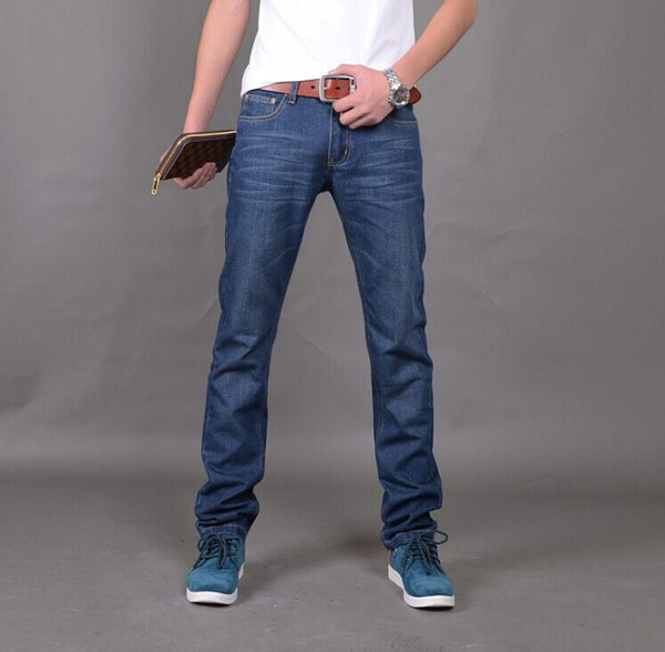 Blue Denim Straight Regular Fit Jeans