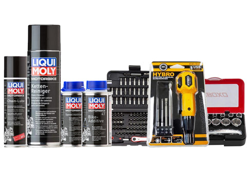 Liqui Moly X SimzWerkz Motorcycle Hands on Kit (with Chains)
