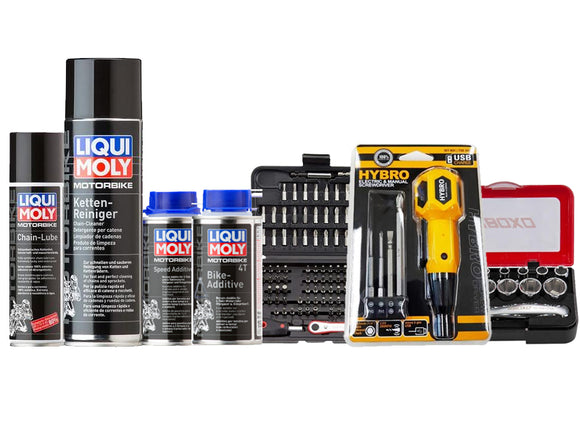 Liqui Moly X SIMZ Werkz Motorcycle Hands on Kit (with Chains)