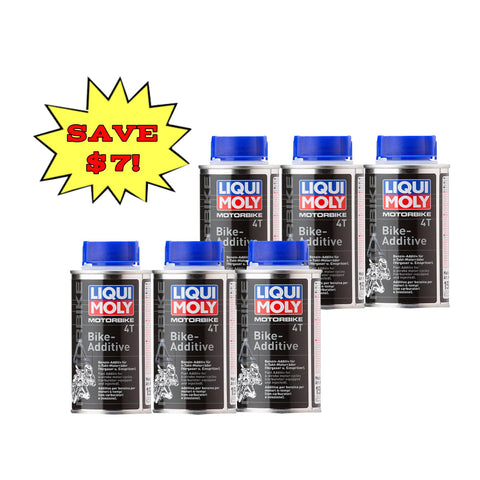 Liqui Moly Motorbike 4T Bike Additive 6 Bottle Bundle deal