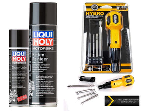 Liqui Moly Chain Lube and Cleaner with Hybro USB Rechargeable Cordless Screwdriver