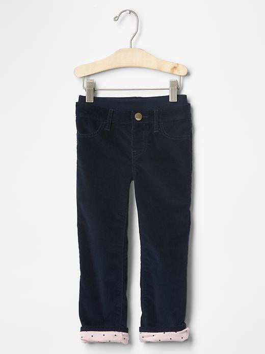 GAP 1969 jersey-lined pull-on straight cords Blue