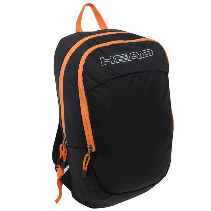 head Zephyr backpack-black and orange